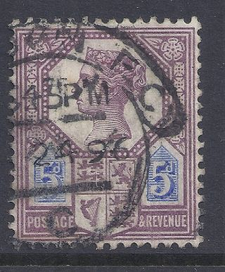 Gb Sg207a Qv 5d Dull Purple & Blue Our Ref K279 Jubilee Issue Die Ii photo