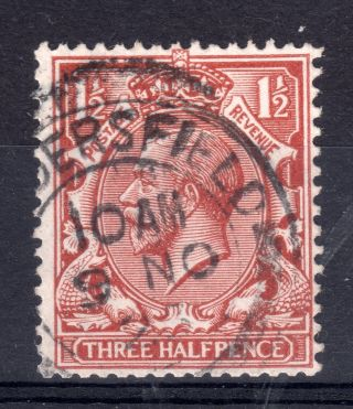 Gb = G5 1912/24 1.  5d Brown,  Sg362.  Fine.  `huddersfield` Thick Arcs photo