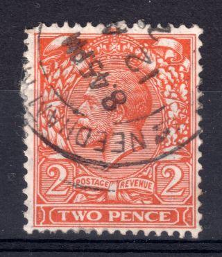 Gb = G5 1924 2d Orange,  Sg421.  Fine.  `needham Market` Thjick Arcs Cancel photo
