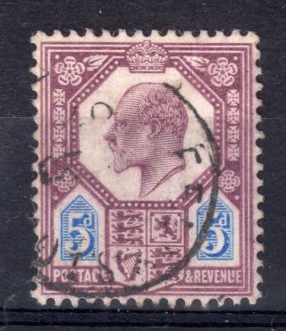 Gb = Town/village Cancel - E7,  5d With An Indistinct Single Ring Cancel. photo