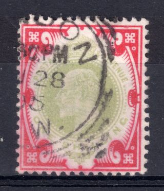 Gb = Town/village Cancel - E7,  `london / S.  W.  ` Sq.  Circle (1905) On 1/ - Value photo