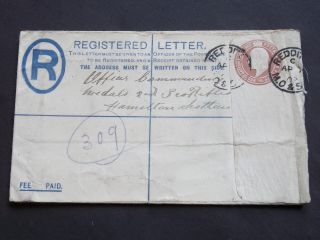 Gb Worcestershire Stationery Kevii Registered Envelope Redditch Cds To Scotland photo