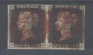 1840 Penny Black (fh&fi) Fine 4 Margin Pair photo