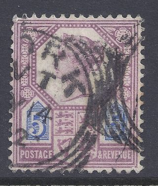 Gb Sg207a Qv 5d Dull Purple & Blue Our Ref K281 Jubilee Issue Die Ii photo
