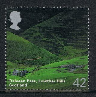 Dalveen Pass,  Lowther Hills Scotland Illustrated On 2006 British Stamp - Nh photo