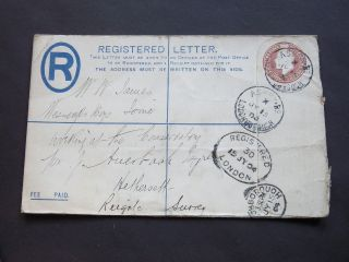 Gb Leicestershire Stationery Kevii Registered Envelope Ashby Rd Loughborough Cds photo