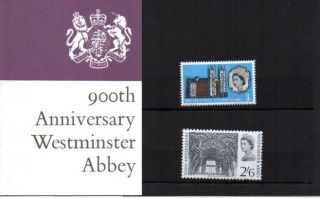 Special Price Westminster Abbey Presentation Pack 1966 Flat Pack photo