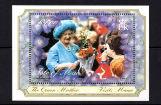 Isle Of Man 2000 Queen Mother ' S Century Visit Isle Of Man Min Sheet Sg Ms881 U/m photo