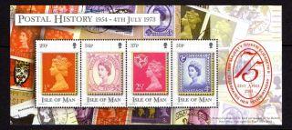 Isle Of Man 2001 H.  M.  Queen 75th Birthday Miniature Sheet Sg Ms935 Un/mint photo