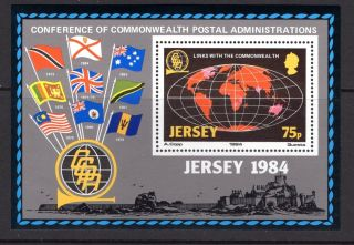 Jersey 1984 Links With The Commonwealth Miniature Sheet Sg Ms333 Unmounted photo