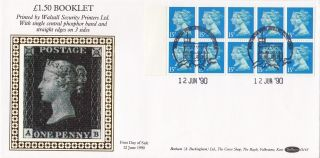 (72864) Gb Fdc 15p Double Head £1.  50 Booklet - Windsor12 June 1990 - Benham photo