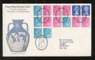 Gb 1971 Wedgwood 1/2p Sideband Special Postmark Fdc. . .  Barlaston. . .  Good Perfs photo