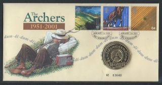 2001 Royal Mail Cover Celebrating 50 Years Of The Archers Dum Di Dum Di Dum Di D photo