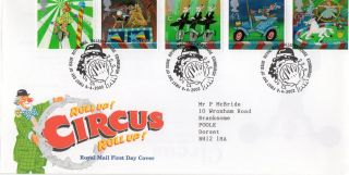 Gb 2002 Circus Royal Mail Fdc With Tallents House Pictorial Fdi Typed Address photo