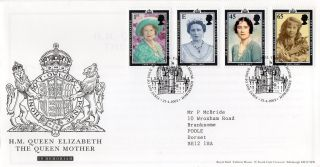 Gb 2002 Qn Mother Royal Mail Fdc With Tallents House Pictorial Fdi Typed Addr photo