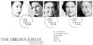 Gb 2002jubilee Royal Mail Fdc With Tallents House Pictorial Fdi Typed Address photo