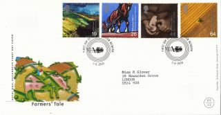 (26236) Gb Fdc Farmers Tale - Newark - 7 September 1999 photo