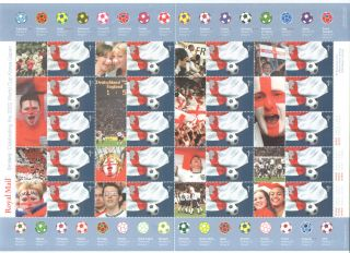 Ls8 2002 Football World Cup Generic Smilers Sheet photo