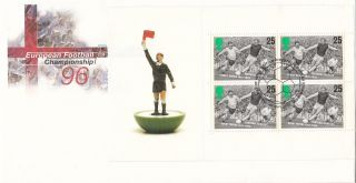 (20193) Gb Fdc Euro 96 Full Booklet Pane - 14 May 1996 Bureau photo