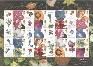 Ls11 2003 Flower Paintings Generic Smilers Sheet photo