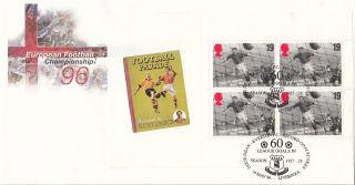 (20194) Gb Fdc Euro 96 Full Booklet Pane - 14 May 1996 Liverpool photo