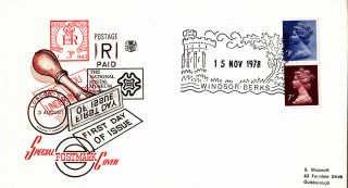 (29089) Gb Rm Fdc Christmas Booklet 9p 7p Se - Tenant - Windsor 15 November 1978 photo