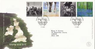 (26209) Gb Fdc Stone And Soil - Killyleagh 4 July 2000 photo