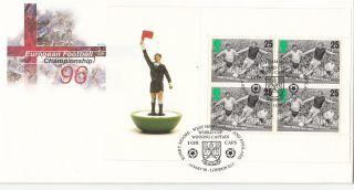 (20195) Gb Fdc Euro 96 Full Booklet Pane - 14 May 1996 London E13 photo