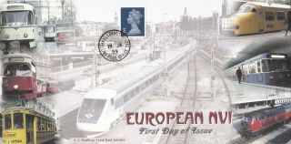 (73632) Gb Bradbury Fdc E Europe Machin - Travelling Post Office 19 Jan 1999 photo