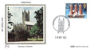 (11764) Fdc Benham Silk - Christmas Canterbury Cathedral 1983 photo