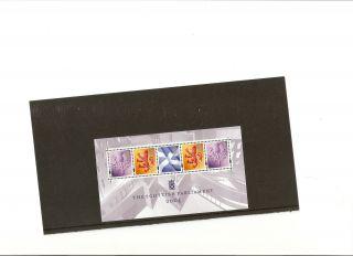 Gb Stamp Miniature Sheet Opening Of Scottish Paliament photo