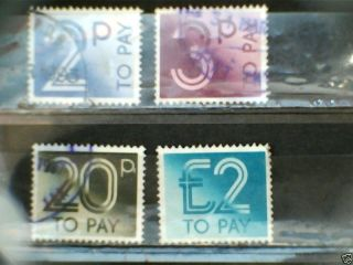 Gb Postage Dues Selection