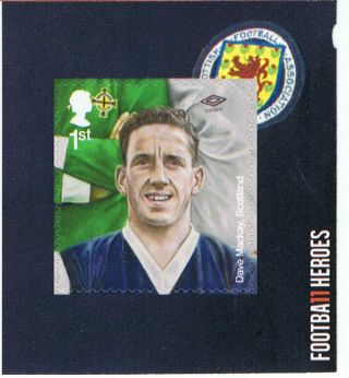 Dave Mackay Football Hero Illustrated Rare Self - Adhesive Variety - Nh photo