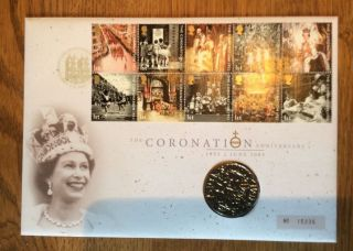 Coin And Stamp First Day Cover - 50th Anniversary Of The Coronation photo