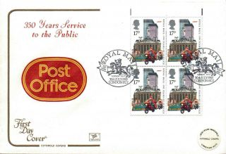 1985 Royal Mail 350 Years Fdc London Post London Ec1 Sp Pmks Lovely photo
