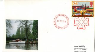 10 August 1993 Canals Cover National Postal Museum Maltese Cross London Ec1 Shs photo