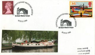 20 July 1993 Inland Waterways Cover Canals Bicentenary Watford Herts Shs (a) photo