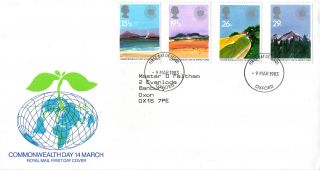 9 March 1983 Commonwealth Day Royal Mail First Day Cover Oxford Fdi photo
