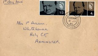 8 July 1965 Sir Winston Churchill Non Phosphor Plain First Day Cover Cds photo