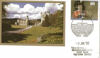 2 June 1993 40th Anniversary Of The Coronation Cover Palace London Sw1 Shs photo