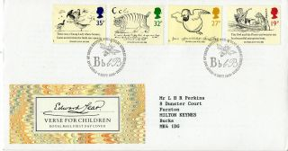 6 September 1988 Edward Lear Royal Mail First Day Cover Bureau Shs photo