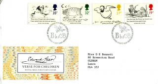 6 September 1988 Edward Lear Royal Mail First Day Cover Bureau Shs (a) photo