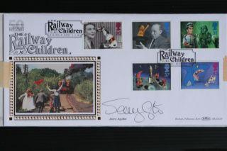 Autographed Benham Fdc Jenny Agutter Signed Railway Children Silk Blcs120 photo
