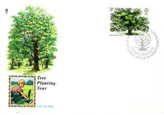 28 February 1973 The Oak Tree Philart First Day Cover Plant A Tree Bureau Shs photo