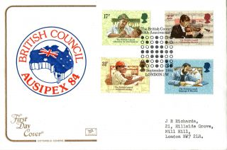 25 September 1984 British Council Cotswold First Day Cover London Sw Shs photo