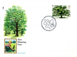 28 February 1973 The Oak Tree Philart First Day Cover Horticultural Hall Shs photo