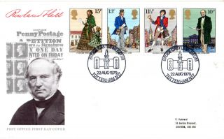 22 August 1979 Sir Rowland Hill Post Office First Day Cover Bruce Castle Shs photo