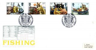 23 September 1981 Fishing Post Office First Day Cover Fishmongers Company Shs photo
