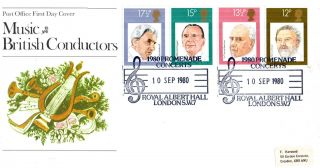 10 September 1980 Famous Conductors Po First Day Cover Promenade Concerts Shs photo