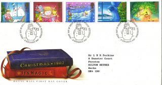 17 November 1987 Christmas Royal Mail First Day Cover Bureau Shs photo